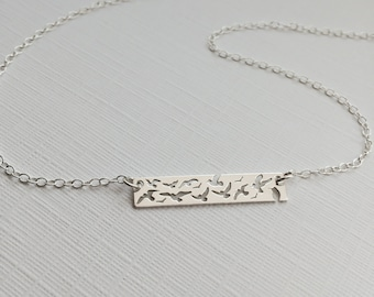 Sterling Silver Bird Bar Necklace