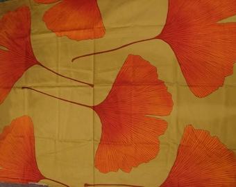 "Marimekko Thick Satin Cotton Ginkgo Bilopa by Kristiina Isola. 48 x 56""  fabulous"