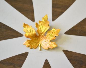 1980s Gold Leaf Tack Pin