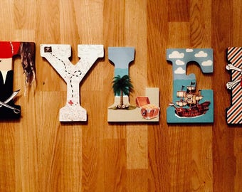 Pirate Themed Letters