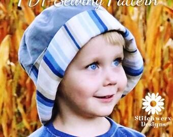 BUCKET HAT Sewing PATTERN, Digital Hat Pattern, Child Hat Pattern, Lined Bucket Hat Pattern, Toddler Hat Sewing Pattern, Pdf Sewing Pattern
