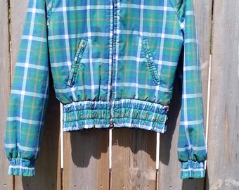 Vintage Spring  or Fall Plaid Jacket Girls Size 12 or 14