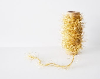 Gold Twine Glitter Trim Tinsel Trim Gold Twine Fuzzy Garland Metallic Trim 10 Yards Gift Wrapping