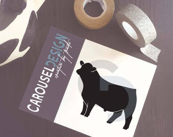 Show Cattle Bull Vinyl Sticker