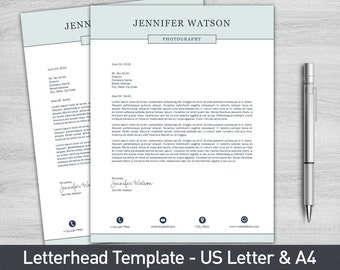 Letterhead template for word diy custom letterhead letterhead template for word business letterhead personalized letterhead cover letter diy stationary spiritdancerdesigns Image collections