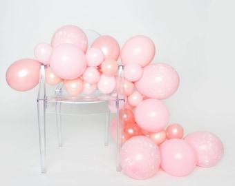 Ballon guirlande Kit - millénaire - éclaboussures rose peinture ballon guirlande - ballons roses millénaires - Dusy rose, ballons Party or Rose