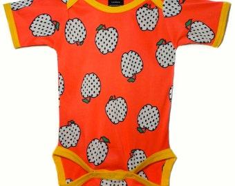 Vintage / handgemaakte / Romper / Apple / baby kleding - Red Delicious