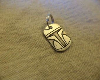 Star Wars inspired Nickel-Silver Charm