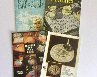 Four Vintage Home Crochet Booklets/Patterns - Twilleys & J.P. Coats