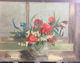 Vintage Handmade Oil on Canvas Painting