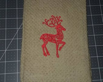 Embroidered Dish Towels, Hand Towels, Kitchen Towels, Christmas Towels,