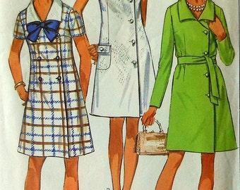 Vintage Dress Sewing Pattern Size 12 Simplicity 8142