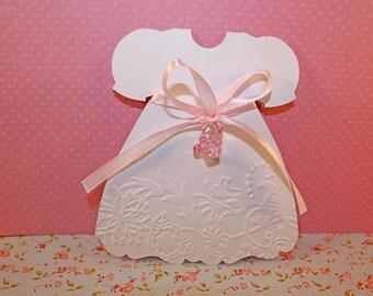 Share custom birth or baptism dress format + envelope. Ideal for baby shower or christening