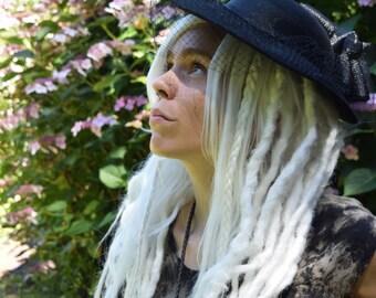Custom White Dreadlock Wig. Dread wig. Full wig. Dreadlock extensions. Synthetic dreads. Synthetic dreadlocks. White Synthetic dreadlock wig