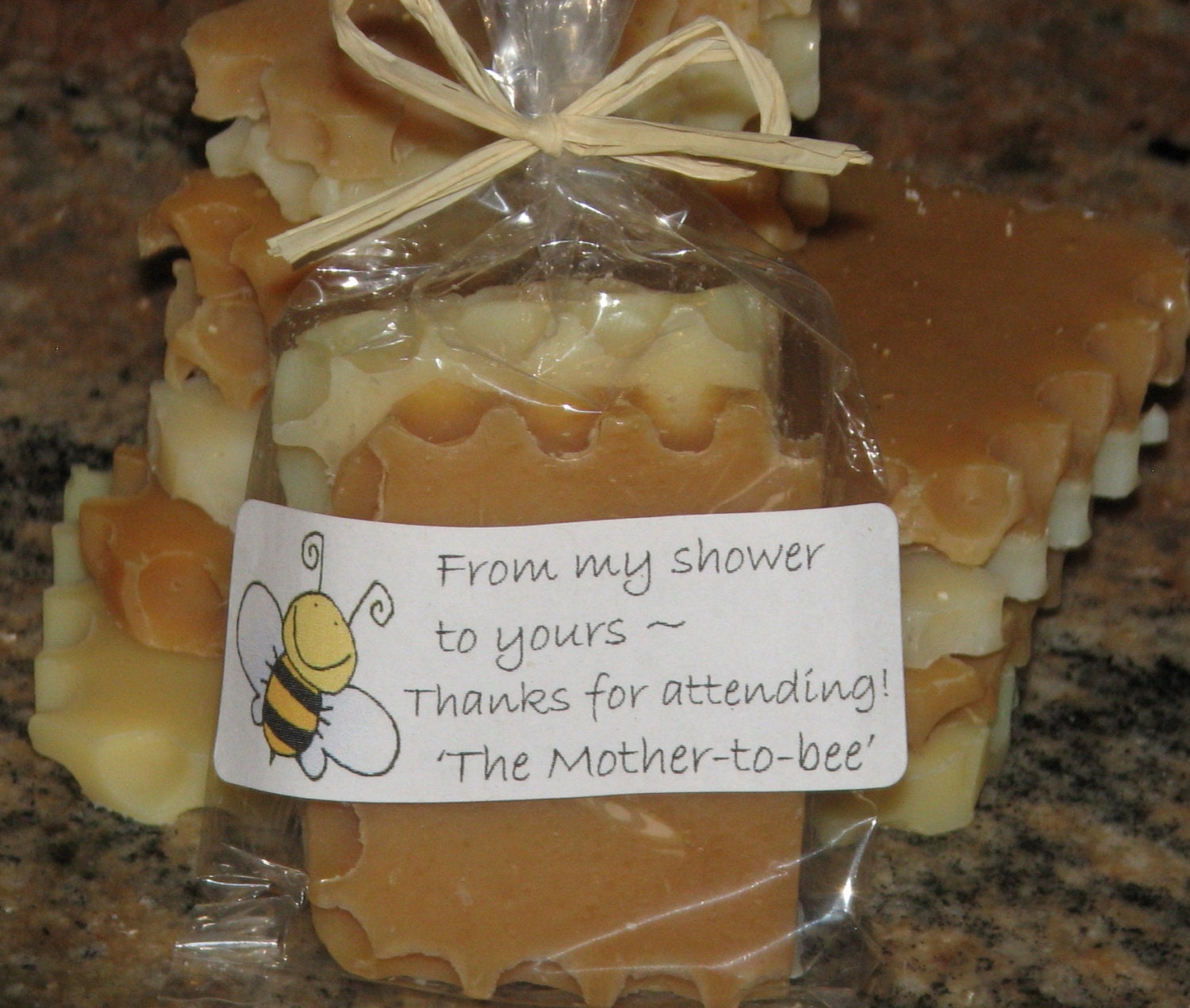 HONEY BEE Baby Shower FAVORS Natural Honey Soap Sets Bumble