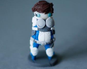 Mass Effect Andromeda, Sara Ryder, Chibi, Figurine, Polymer Clay
