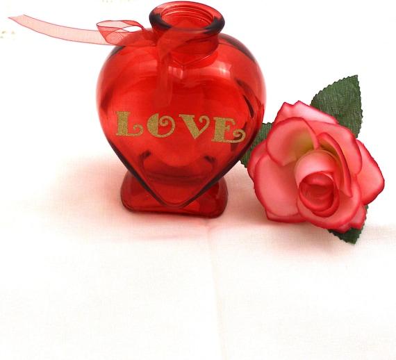 Glass Heart Vase Love Vase Flower Vase Valentines