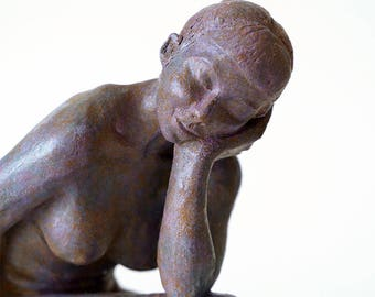 """Eléna"" sleeping woman sculpture"
