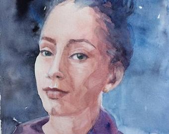 Custom Watercolour Painting, Watercolor Portrait, Original Art Commission, Unique Gift