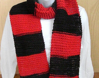 Knitted Team Scarf-Red and Black