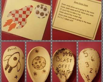 Children's Nursery Rhyme Bags with Song Card and Spoons