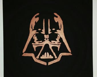 Darth Vader Copper on Black