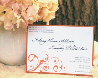 Shimmer Swirls - Wedding Invitations