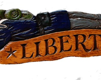 Liberty Colonial Soldier Wall Plaque and Door Topper
