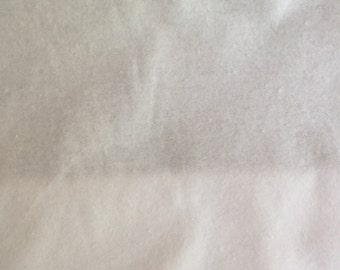 Soft White Flannel Fabric - Plain White Flannel Material - Wyncienette - Flannelette - Priced per Metre