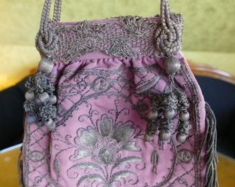 1870-1880 Evening handbag, antique handbag, Victorian handbag, antique purse, pocket
