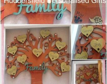 Framed family tree - fully personalised
