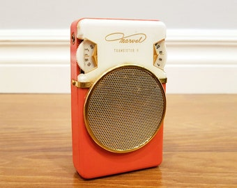 Vintage 1961 Marvel 6-Transistor Radio, Model 6YR-15A, Made in Japan, Working