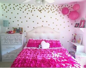 2'' Polka Dots, Confetti Wall Circles, Circle Wall Decals, Girls Room Decor, 100 or 200 vinyl wall dots, Peel and stick Polka dots