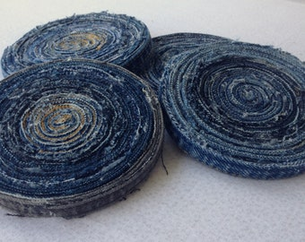 UPcycled Denim Jeans Round Drink Coasters/Coffee Coasters/Wine Coasters