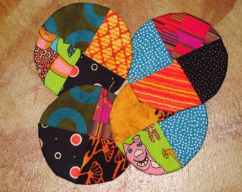 Funky Eclectic Southwest Coaster Set, Coasters, Southwest Coasters, Stocking Stuffer, Coasters
