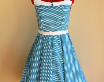 Vintage Inspired Dress / Pinup Dress / Swing Dress / Rockabilly Dress / Circle Dress