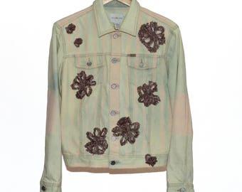 Pink Showers & Flowers Denim Jacket
