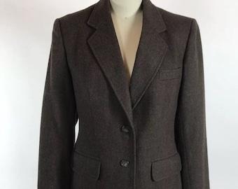 Vintage 1980s Neiman Marcus Evan Picone wool blend brown blazer