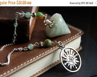 MOTHERS DAY SALE Green Aventurine Pendulum. Jade Pendulum. Green Pendulum. Dowsing Pendulum. Metaphysical Divination Tool. New Age Healing P