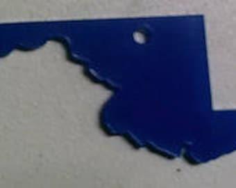 5 clear acrylic MARYLAND key chain blanks