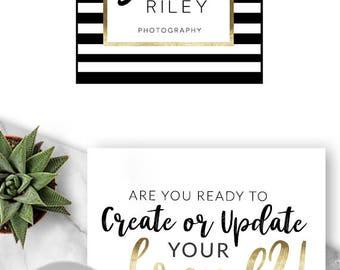 Logo Design, Premade Logo, Branding, Blog Header, Business Logo, Photography, Boutique, Shop, Jewellery, Website, Stripes, Girlboss, 400