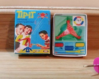 TG-8    Miniature Tip-it game opens only  great for barbie and dollhouse collectors