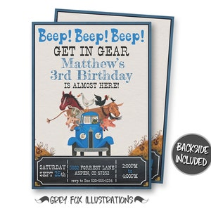 Little Blue Truck Birthday Invitation, Little Blue Truck Invitation, Little Blue Truck Party, Little Blue Truck Personalized, Printables