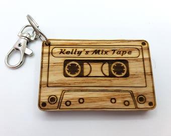 Personalised Mix Tape Keyring