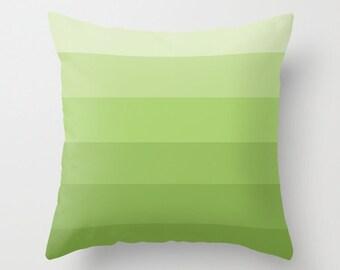 OMBRE Throw Pillow 16x16 Graphic Print Cover Bright Dark Vibrant Couch Art Home Decor Design Green Purple Blue Lavender Aqua Pink Lime Peach