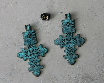 1 Large Medieval Cross  Pendant/ Charms   #93