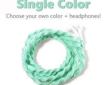 Design Your Own Headphones - Pick Your Own Custom Colors & Earbuds - Single Color Earphones - Skullcandy, Sony, Apple iPhone 8, 7 Earpods