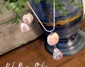 Blush Necklace and Pendant Set