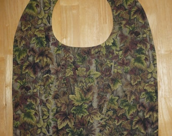Adult bib / Clothes protector / Special needs bib / Leafs and trees