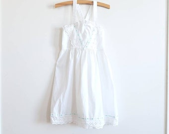 Vintage White Girl's Sundress